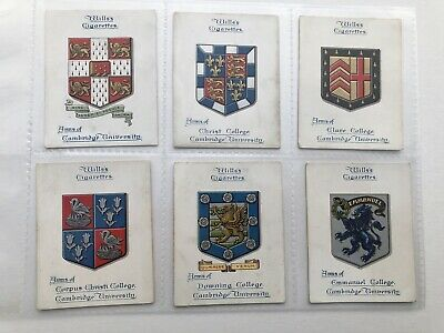 Full Set (42) 'Arms Of Oxford & Cambridge Colleges' Wills Cigarette Cards 1922 • 2.50£