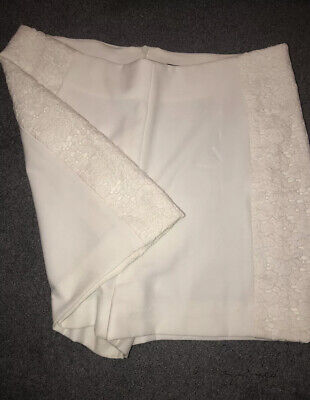 Zara Lace White Shorts Size 12UK Preowned • 12.99£