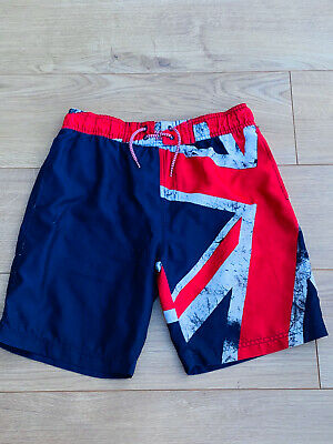 Primark Boys Union Jack Swim Shorts Size 12-13 • 3£