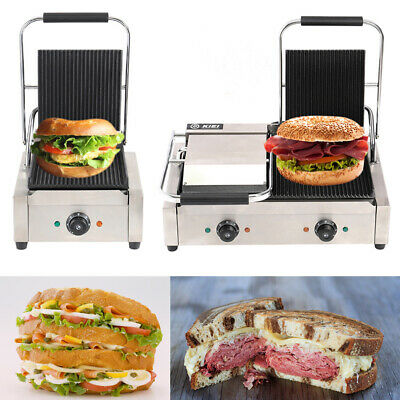 Commercial Panini Press Sandwich Toastie Maker Toaster Electric Healthy Grill • 125.95£