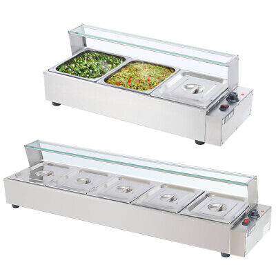 £125.95 • Buy 3/5 Pot Bain Marie Commercial Catering Electric Food Wet Heat Warmer Holder