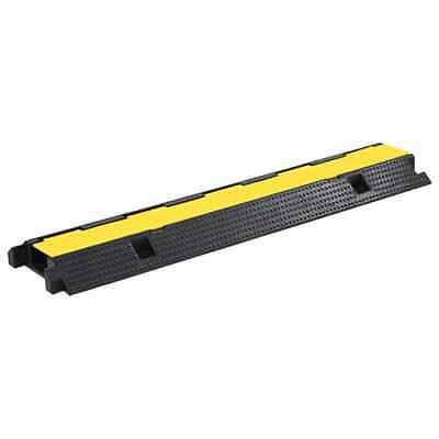 VidaXL Cable Protector Ramp 1 Channel Rubber 100cm Conduit Wire Road Cover • 22.38£