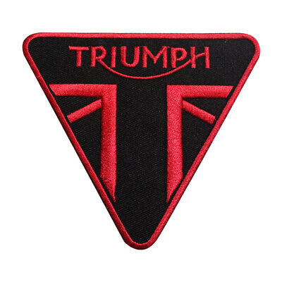£1.99 • Buy Triumph Motor Bike Brand Logo Patch Iron On Patch Sew On Embroidered Patch