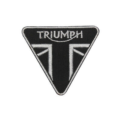 £1.99 • Buy Triumph MotorBike Brand Logo Patch Iron On Patch Sew On Embroidered Patch