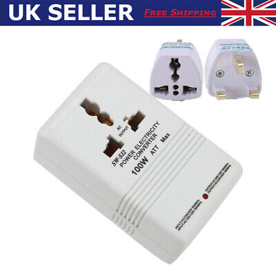110V To 220V 100W Step Up&Down Dual Voltage Converter Transformer For Travelling • 12.28£