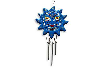 £8 • Buy Sun Wind Chime Blue Handpainted Bright Colours Decor