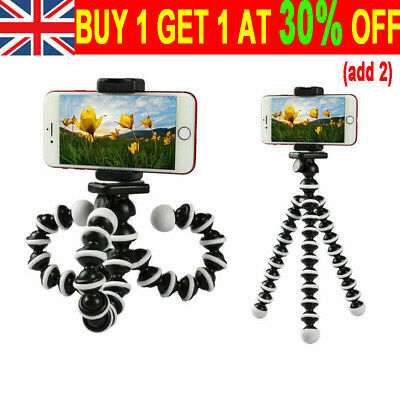 Universal Mobile Phone Holder Stand For Iphone Flexible Octopus Tripod Stand UK • 4.99£