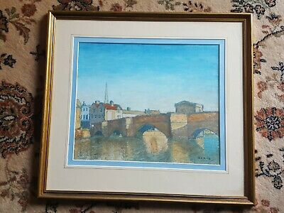 Pastel Painting By Terry Symonds Of St Ives Bridge  • 65£