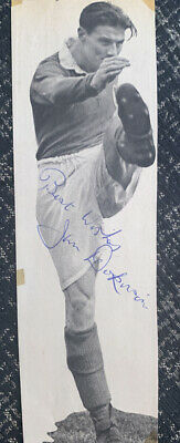 Signed Portsmouth FC 1950s Jimmy Dickinson England Autograph Signature • 1.99£