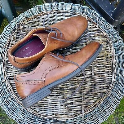 Mens Brown Leather Rockport Trutech Lace Up Shoes Size Uk 9 Vgc Worn Once!! • 15£