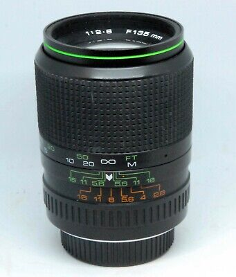 HANIMEX 135mm  F 2.8 TELEPHOTO LENS PENTAX  K BAYONET FIT • 9.99£