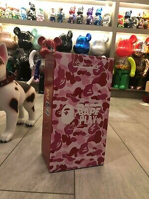 $999.99 • Buy Medicom Be@rbrick BAPE ABC CAMO SHARK Pink 400% WGM Ape 2015 Bearbrick