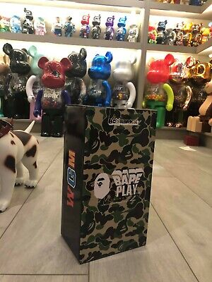 $899.99 • Buy Medicom Be@rbrick BAPE ABC CAMO SHARK Green 400% WGM Ape 2015 Bearbrick