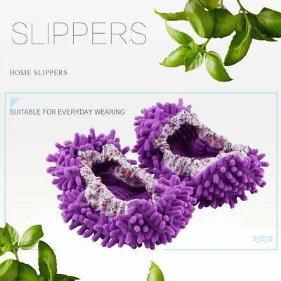 Home Mop Sweep Floor Cleaning Duster Cloth Housework Lazy Soft Slipper Shoes GN • 4.13£