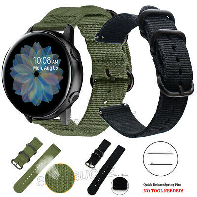 AU14.91 • Buy For Samsung Galaxy Watch 3 45mm Gear S3 Classic/Frontier Nylon Strap Watch Band