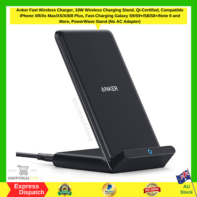 AU43.90 • Buy Anker Fast Wireless Charger, 10W Wireless Charging Stand, Qi-Certified PowerWave