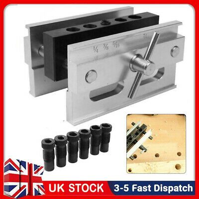 £29.85 • Buy Woodworking Self-centering Doweling Jig Kit Drill Guide Set Drill Bushings Tool
