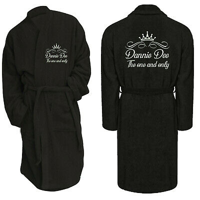 Dressing Gown Bathrobe Luxury Custom Embroidered Personalised Toweling Spa Hotel • 15.99£