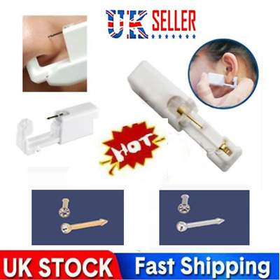 Disposable Safety Sterile Piercing Kit Tool Body Ear Nose Lip Stud Piercing Tool • 3.69£
