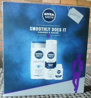 Nivea Mens Smoothly Does It Shower And Shave Set • 2£