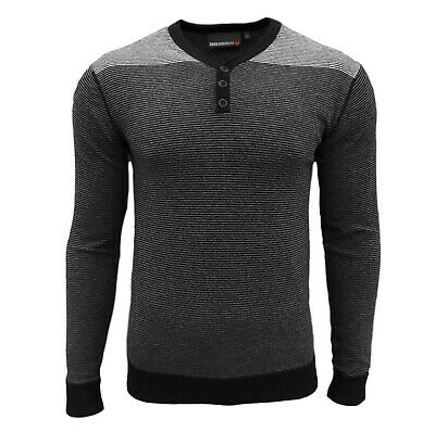 Duck And Cover Men's Hudson Striped Knitted Top Tops Jumper Jumpers Sweater • 7.95£