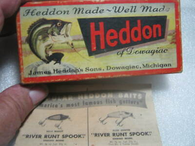 $ CDN33.39 • Buy Rare Old Vintage Heddon Dowagiac 2500 BF Lure Lures Box Only With Paper Work