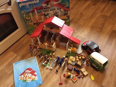 Playmobil 4190 Horse Stables With Figures And Accessories Inc Car And Horse Box! • 29.99£