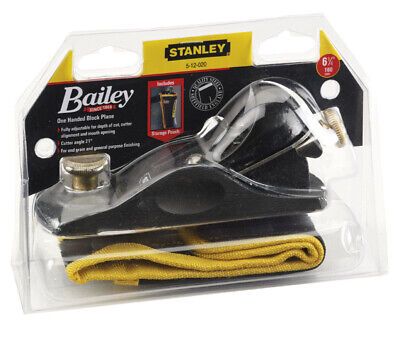 Stanley BAILEY 5-12-020 9 1/2 Fully Adjustable Block Plane With Storage Pouch  • 38£