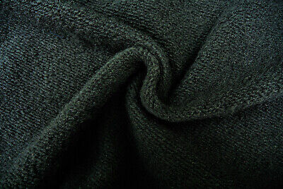 £3.99 • Buy Black Heavy Boiled Wool Cashmere Blend Chunky Soft Knit Made In Italy Slb140