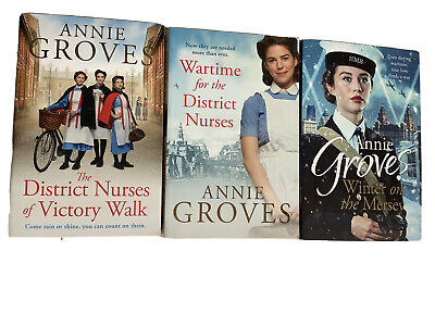 Annie Groves Books Wartime For District Nurses Winter On Mersey, Distirct Nurses • 5.99£