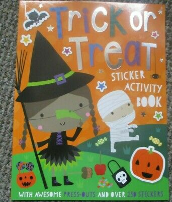 Halloween Sticker Book Press Outs And Stickers • 3.99£