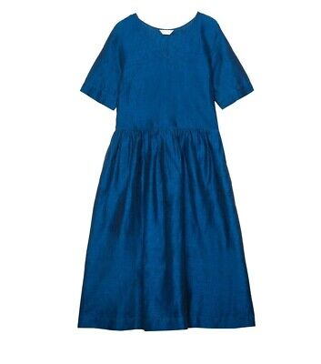 AU80 • Buy Gorman Submerge Linen Dress Blue Size 8 - As New Condition! Worn Once.