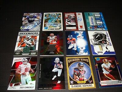 $ CDN7.27 • Buy NFL Football Rookie, Auto, Jersey Card Clearance Lot 4 Autos, 4 Jsy Cards And 4
