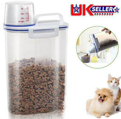 £6.99 • Buy Pet Food Container Dog Cat Animal Dry Feed Storage Box Bin Bird Seed Litter 2KG