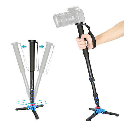 AU39.99 • Buy Neewer Extendable Camera Monopod Holder With Tripod Support Base For Canon Nikon