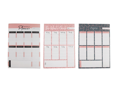 Weekly Planner Pado Do List Desk Note Pad Meal Plan Home Office Tear Off Sheets • 2.60£