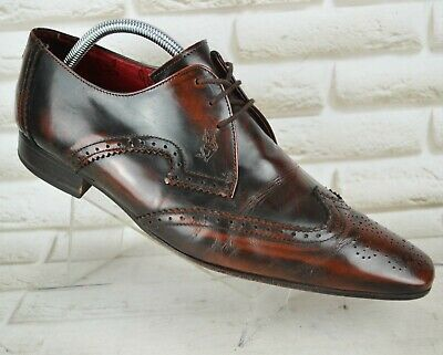 JEFFERY WEST Muse Mens Leather Two Tone Brogues Shoes Formal Size 10 UK 44 EU • 59.95£
