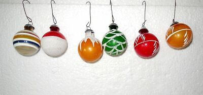 $ CDN33.02 • Buy 6 Vintage Christmas Tree Ornaments 1950's Mica