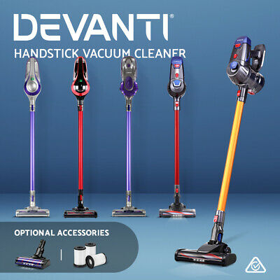 AU108.90 • Buy Devanti Handheld Vacuum Cleaner Cordless Stick Handstick Bagless Car Vac 3 Model