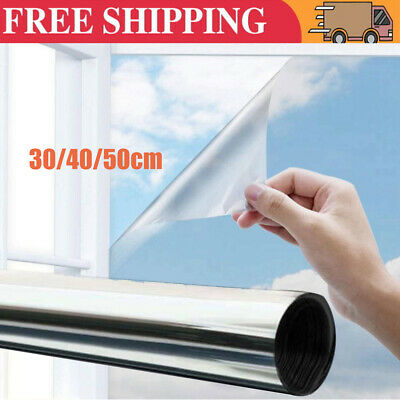One Way Mirror Window Film Privacy Reflective Glass Sticker Self Adhesive 2M/5M • 6.49£