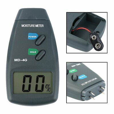 4-Pin Digital Moisture Meter Damp Detector Timber Wood Tester Plaster Sensor GN • 11.54£