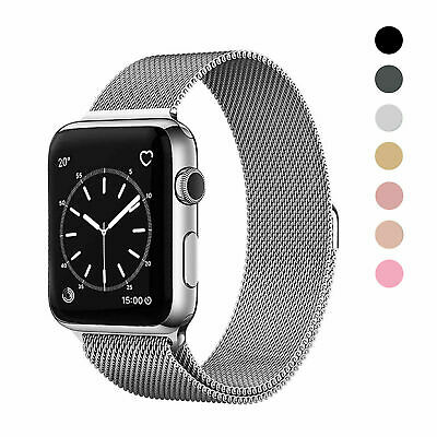$ CDN7.56 • Buy For Apple Watch IWatch Band Series 6 5 4 3 2 1 SE Magnetic Metal Milanese Strap