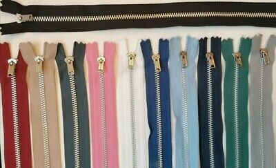 YKK METAL CLOSED END ZIP Many Colours & Sizes Excellent Value • 2.20£