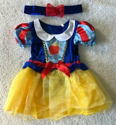 Baby Girls Disney 🍎 Snow White 🍎 2Pce Fancy Dress Up/All In One Costume 9-12m • 19.99£
