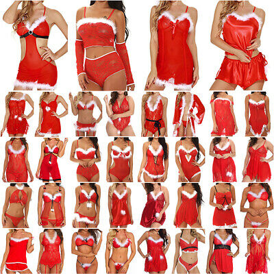 Women Ladies Sexy Christmas Wedding Lace Lingerie Underwear Nightwear Sleepwear • 8.79£