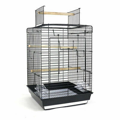Open Top Bird Cage For Canary Parakeet Cockatiel Budgie Small Parrot Travel Cage • 25.79£
