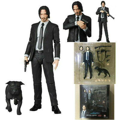 UK Mafex 085 John Wick Chapter 2 Dog PVC Action Figure W/Box Collection Toy Gift • 23.66£