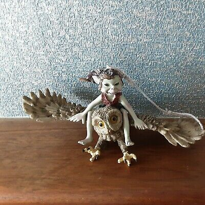Pixie Riding Flying Owl Garden Ornaments Fairy Indoors Or  Outdoor Decoration  • 5£