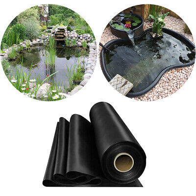 Black Garden Fish Pond Liners Outdoor HDPE Liner Membrane Landscaping 6 Sizes • 55.19£