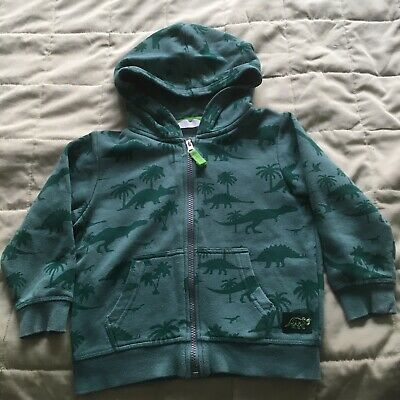 Boys Green Jumper Dinosaurs Hoodie Size 2-3 Years 3-4 Years By H&M • 1.99£